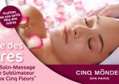 Offre spéciale Fête des mères : Soin-Massage du Visage Sublimateur « Rituel aux Cinq Fleurs® »